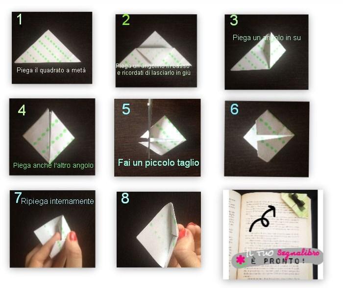 Préférence Lucrezia Scali | Tutorial origami semplici: come fare un segnalibro UQ06